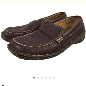 Born Brown Leather Driving Loafer Shoe 7